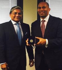 Ambassador Ziauddin meets US Congressman Jeffries