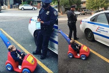 9 Month Old Boy Riding Toy Car In Queens Gets Fake Speeding Ticket
